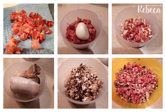 Receta de champiñones rellenos de jamón: cómo preparar el relleno