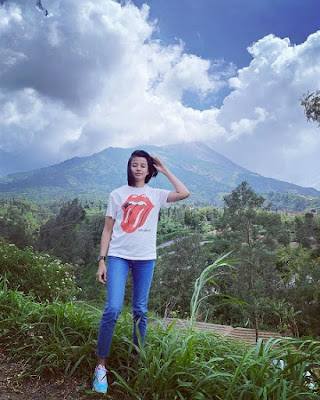 Wida Hesti Putri di Pegunungan