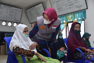Usai Dilantik, Ketua BK3S Batu Bara Berikan Bantuan Ratusan Paket Sembako