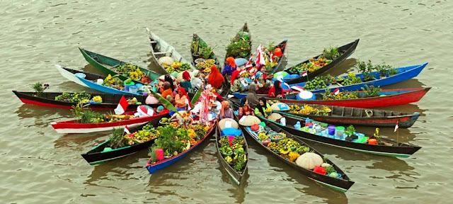 Festival Floating Market, Banjarmasin, Kalimantan