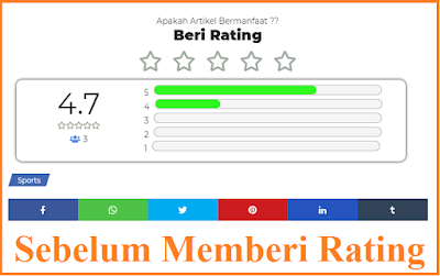 Sebelum Memberi Rating Template Safelink Textrime