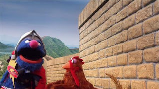 Super Grover 2.0 Why Did the Chicken Cross the Wall, The Pretty Good Wall of China. Super Grover helps a Chicken. Sesame Street Episode 4320 Fairy Tale Science Fair season 43
