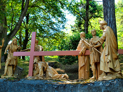 Way of the Cross Station VII Jesus falls the second time under the weight of the cross