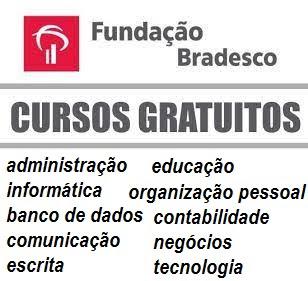 Cursos Online da Fundação Bradesco - GRATUITOS