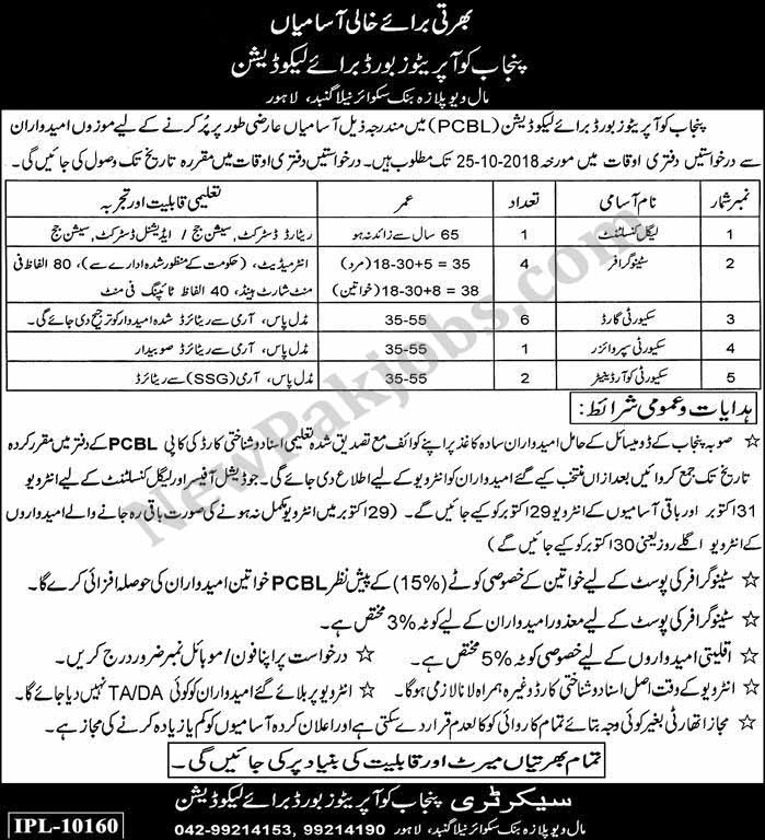 Jobs-in-Punjab-Cooperative-Board-for-Liquidation-17-10-2018