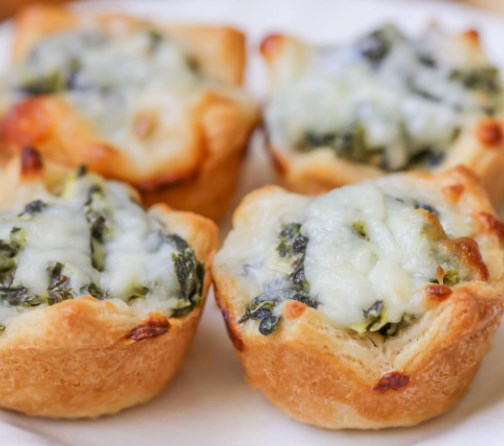 SPINACH DIP BITES #appetizers #lunch