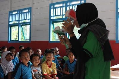 Penyuluhan PHBS gabungan dengan tim Nusantara Sehat di SDN 51 Enggano