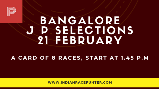 Bangalore Jackpot Selections 21 February, Jackpot Selections by indianracepunter,