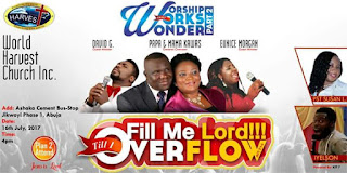EVENT: Worship Works Wonder - Fill Me Lord Till I Overflow