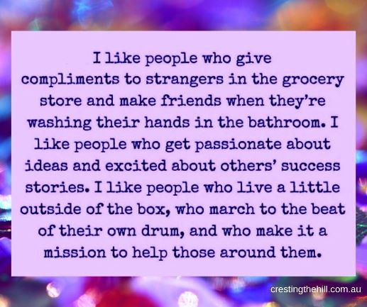 I like people who give compliments - Amy Weatherly #inspirationalquotes