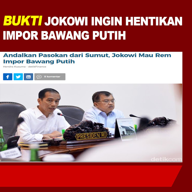 Andalkan Pasokan dari Sumut, Jokowi Mau Rem Impor Bawang Putih