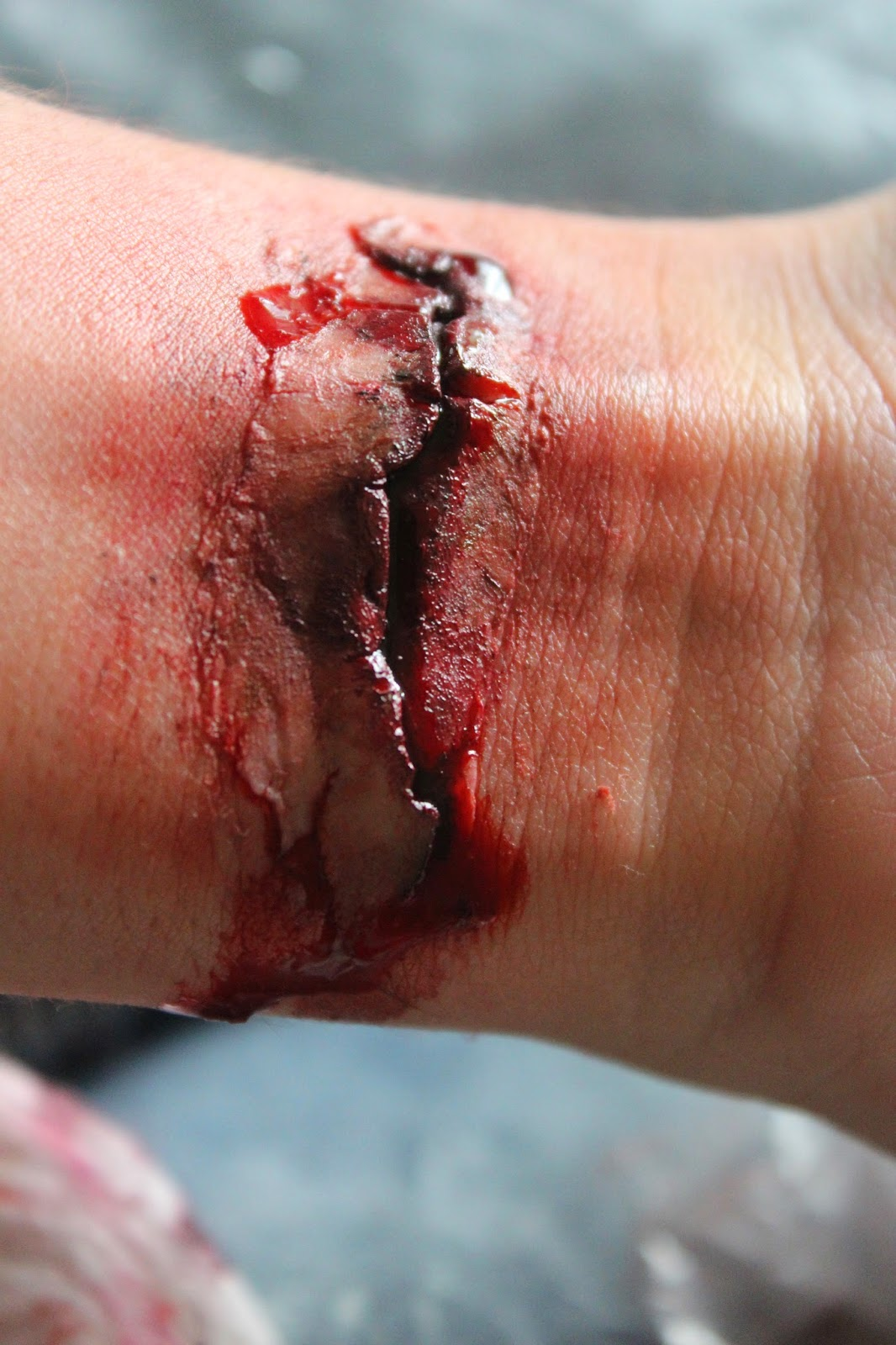 Basic Fake Wound Tutorial gore wounds special fx
