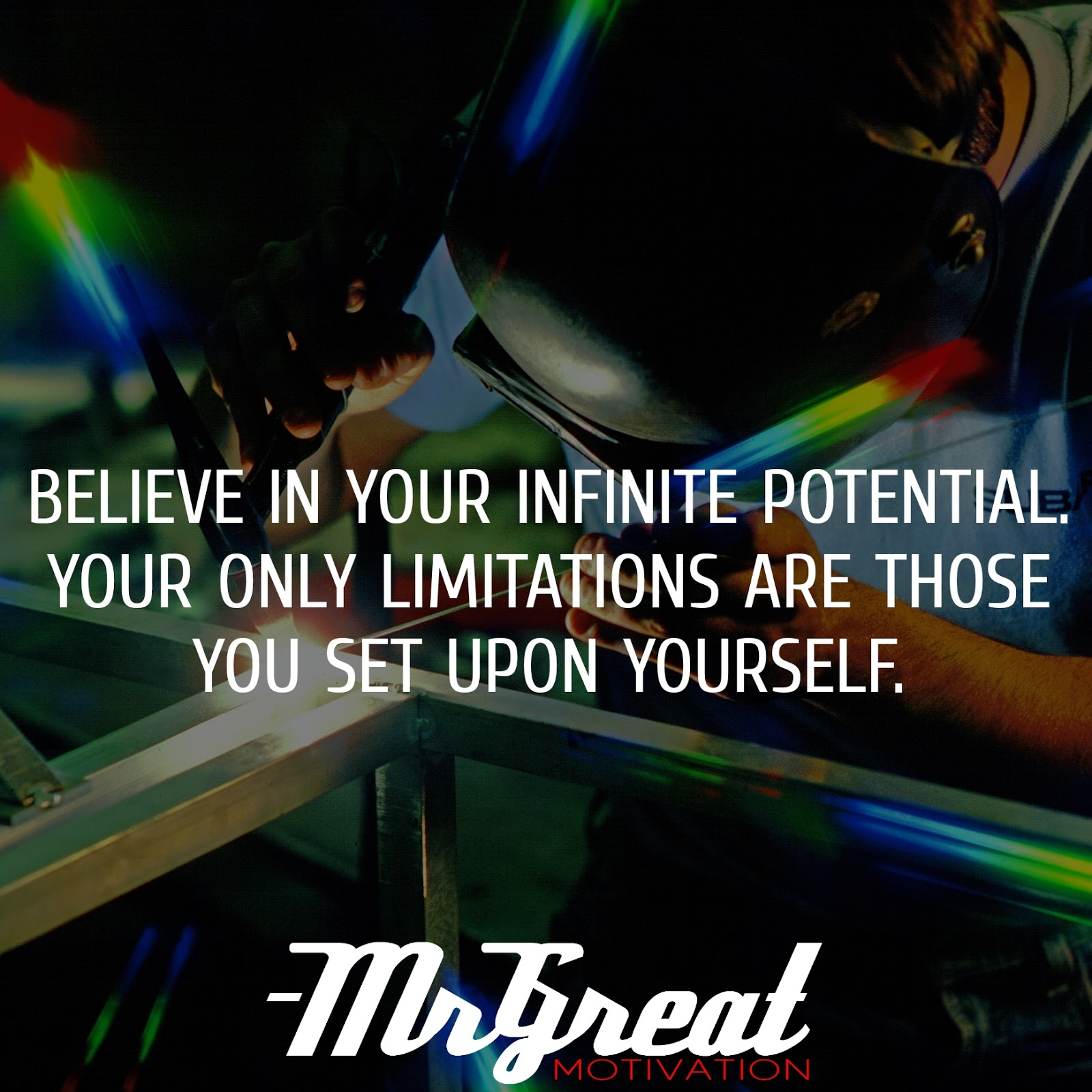 Believe in your infinite potential. Your only limitations are those you set upon yourself - Roy T. Bennett