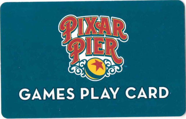 Pixar Pier Games Play Card