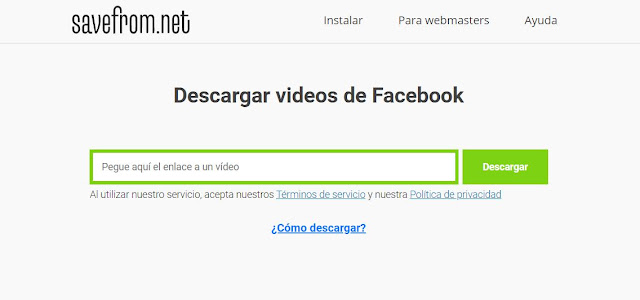 Para descargar vídeos en Facebook te recomiendo la herramienta Savefront, como es usual debes copiar la URL del vídeo y pegarla en está herramienta, para obtener la dirección del vídeo da clic en la fecha en la que fue subido.