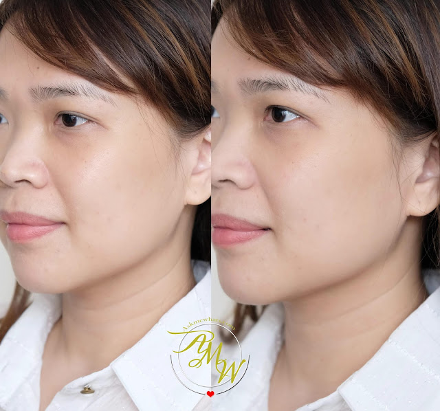 before and after photo of It Cosmetics Bye Bye Pores Pressed Powder Review available at Sephora PH