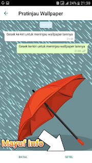 Cara Merubah Wallpaper Atau Background Chat Whatsapp Android Terbaru