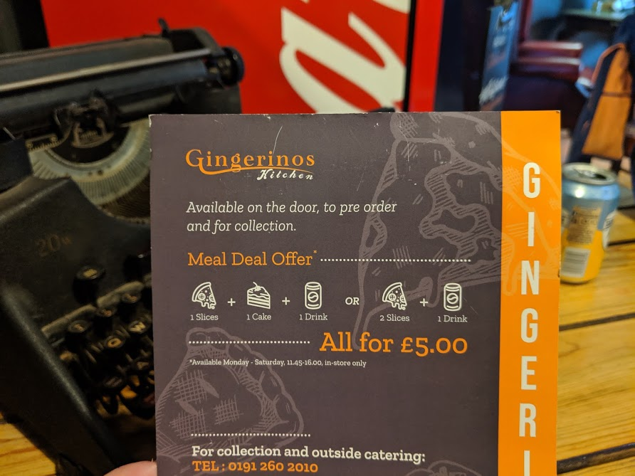 Gingerinos - A Tasty £5 Lunch Deal in Ouseburn  - lunch deals