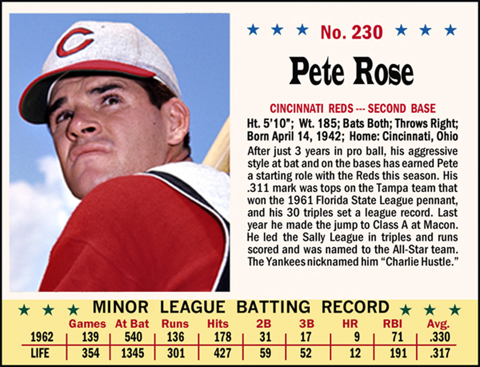 Pete Rose Biography 1963 Baseball Card Obatsipilisdenature