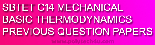 c-14-M-thermodynamics previous years question papers sbtetap pdf download