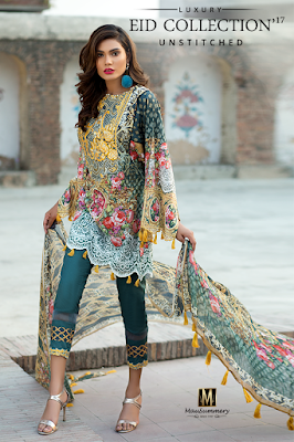 Island Princess 3 Piece Embroidered Digital Printed Lawn