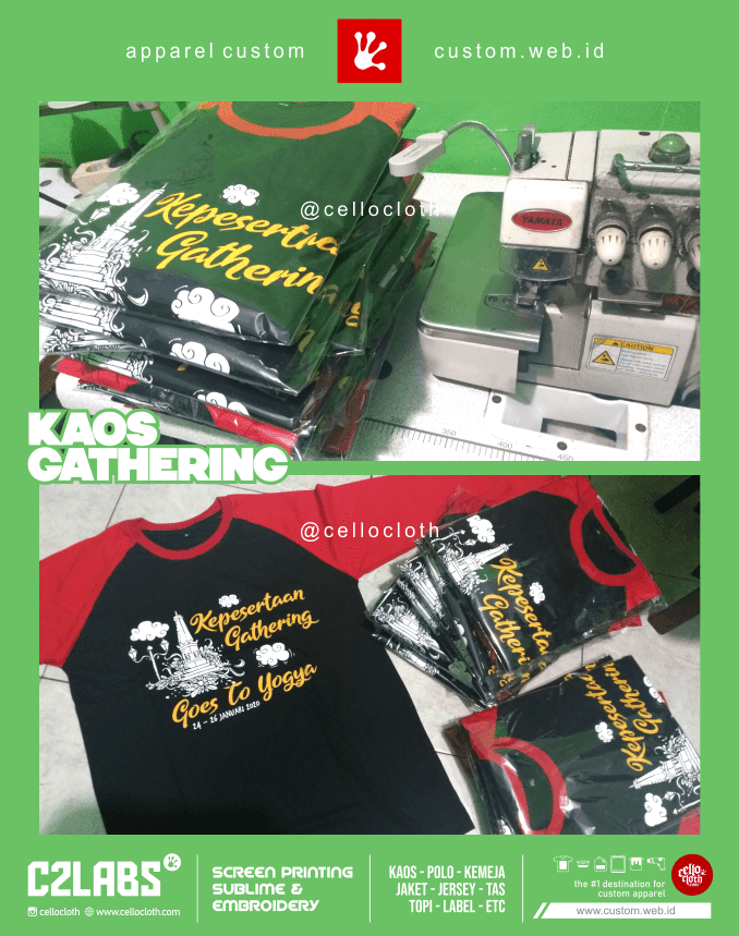 On Proses Sablon Kaos Gathering Goes To Jogja - Kaos Reuni