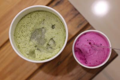 Kit Kat green Tea Milkiyo dan Es krim buah naga