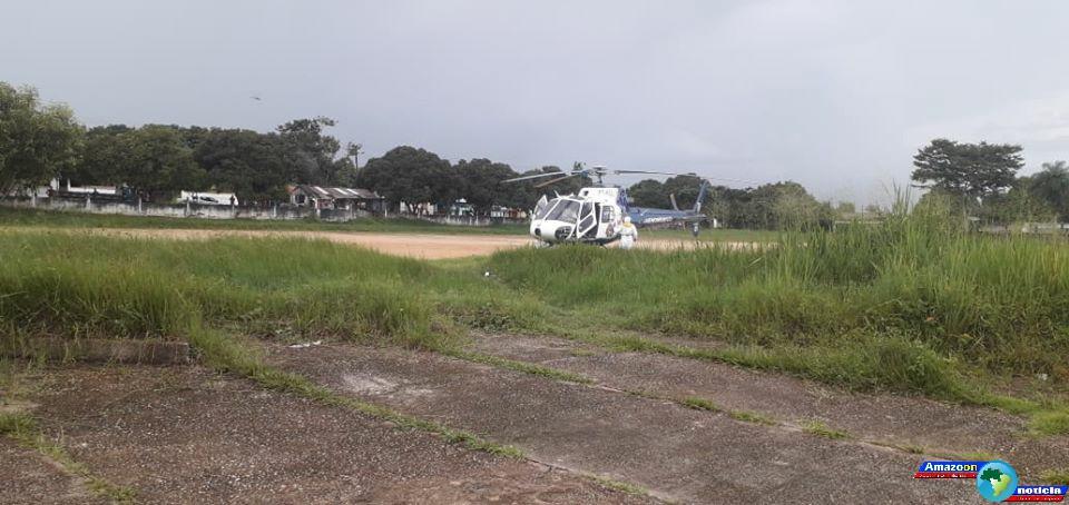 Secretaria de saúde de Oriximiná transfere para Santarém paciente com suspeita de covid-19.