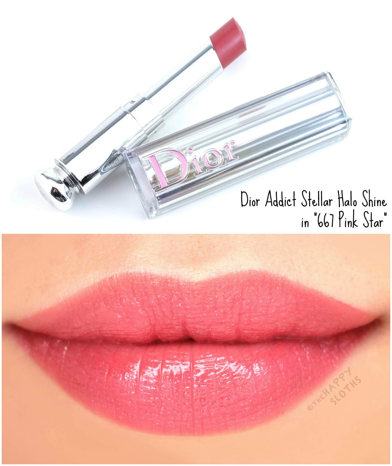 "Dior | Dior Addict Stellar Halo Shine Lipstick in ""667 Pink Star"": Review and Swatches"
