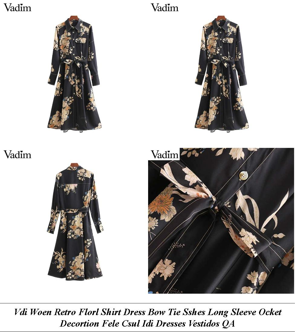 Ladies Party Dresses With Sleeves - Winter Collection Online Shopping - Floral Midi Dress Outfit