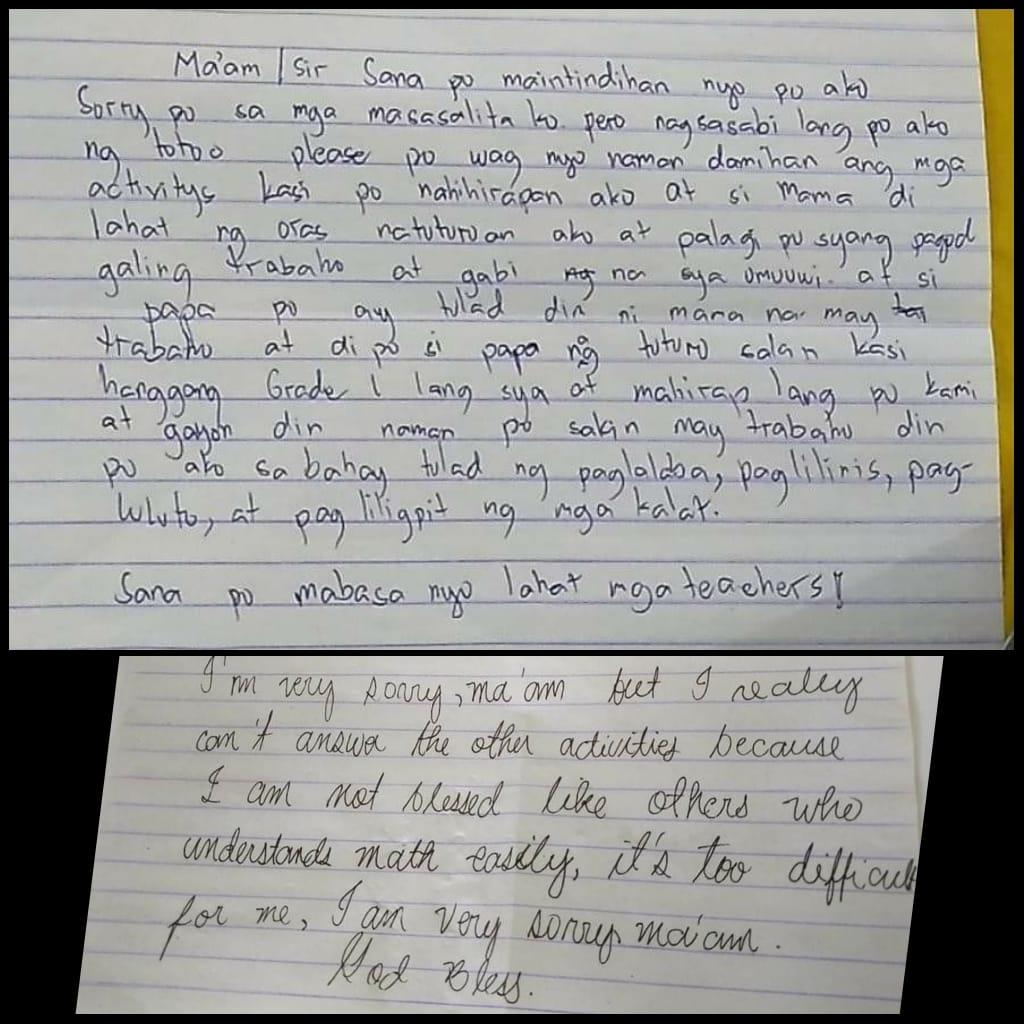 VIRAL: Mensahe ng mga mag-aaral sa kanilang mga guro ngayong modular learning