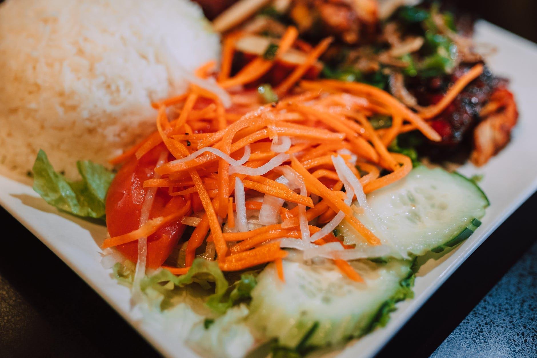 Iranian style carrot salad
