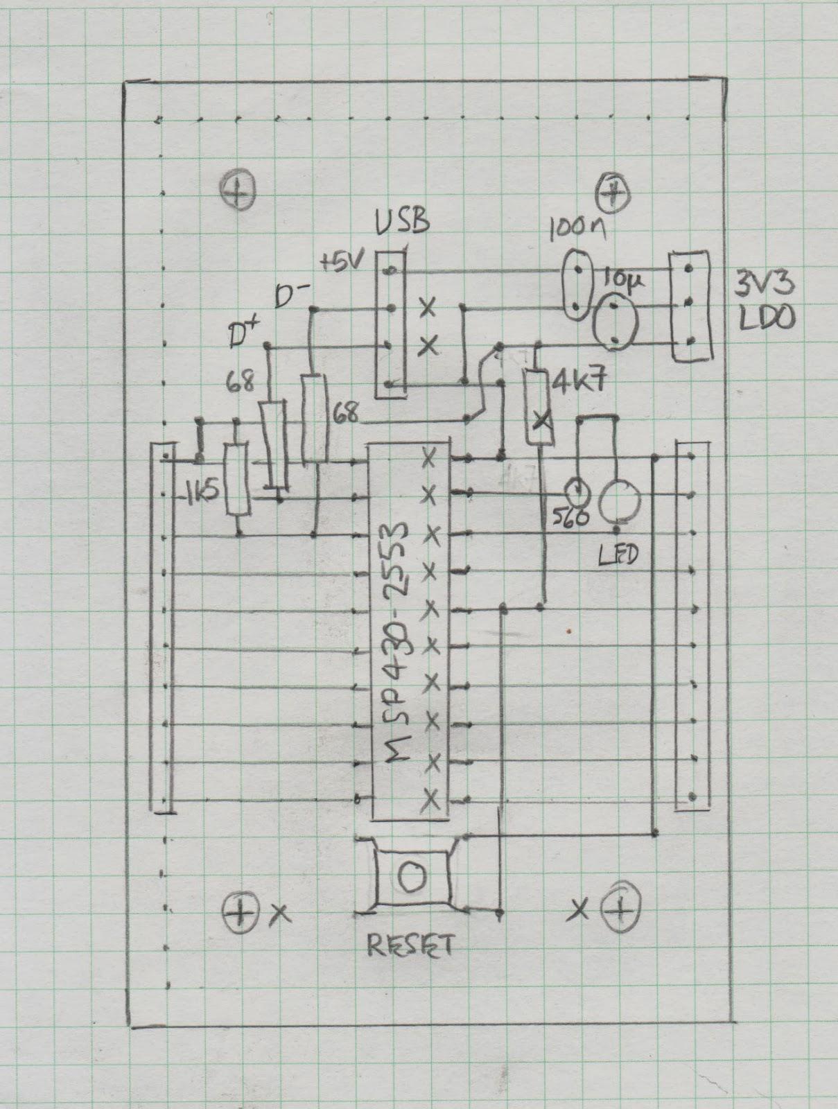 Bits On A Board Homebrew Msp430 Development Board
