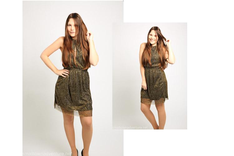 Ootd Weihnachtsoutfit , Goldenes Kleid, Glitzerkleid, H&M, Fashionblogger, Was ich an mir mag, Koume, 3 of a Kind