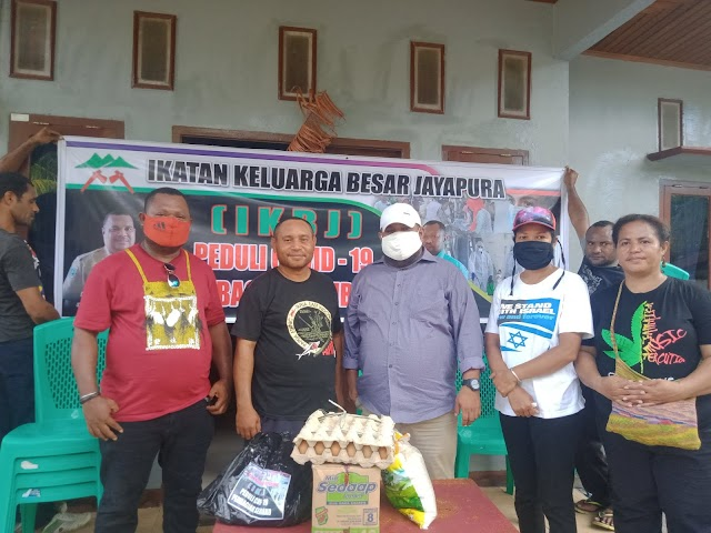 Ikatan Keluarga Besar Jayapura (IKBJ) di Sorong Selatan Menyalurkan Bantuan Sembako Bagi 25 Kepala Keluarga IKBJ di Sorong Selatan