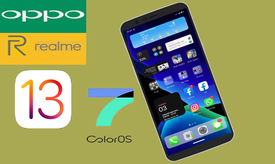 Download Tema iOS  | iPhone 13 Untuk Oppo ColorOs 7 dan Realme UI