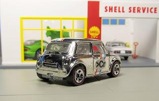 hot wheels super chromes morris mini target tin set