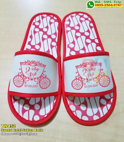 Sandal Hotel Sablon Batik