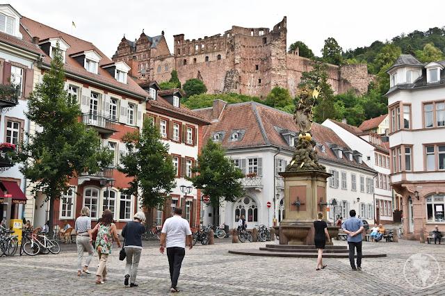 Parte do Schloß Heidelberg visto do centro histórico