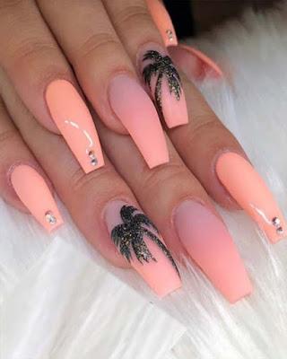 ideas decor coffin nails acrylic summer