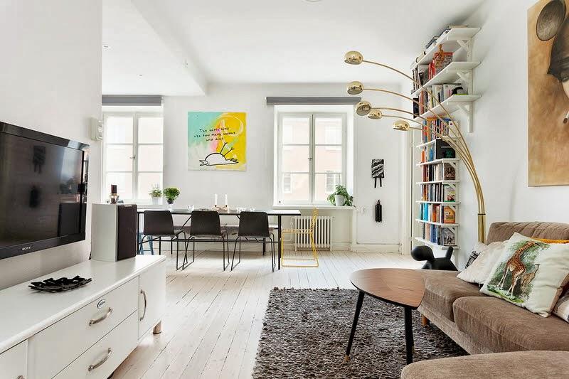 Witte Zweedse Woonkamer : Nordic blends nordic inspiration witte woonkamer met een beetje knal