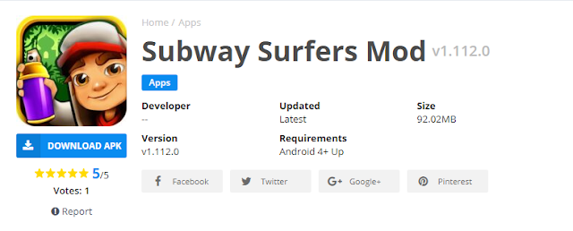 Subway surf mod apk semua karakter terbaru 2019