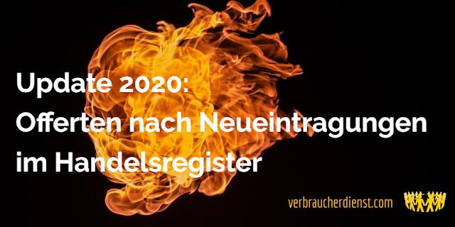 Titel: Update 2020: Offerten nach Neueintragungen im Handelsregister