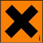 simbol bahan kimia berbahaya Harmful Irritant (Bahaya Iritasi)