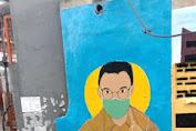 Sosialisasi Bahaya Covid-19, PPSU Tanser Bikin Lukisan Mural