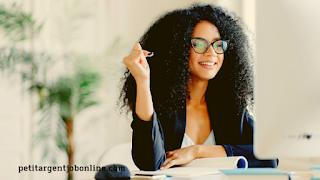 Femme comment trouver un travail à domicile, gagner de l'argent en ligne en travaillant à domicile