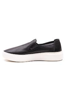 bayan siyah mokasen ayakkabı