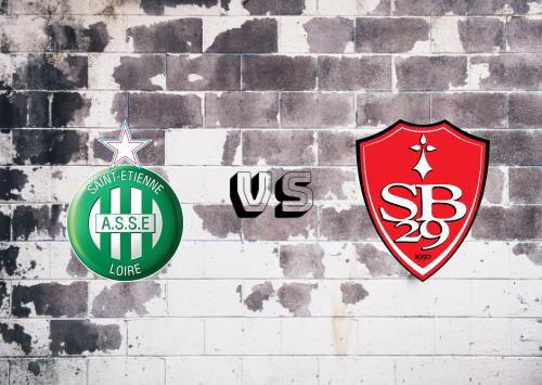 Saint-Étienne vs Brest  Resumen