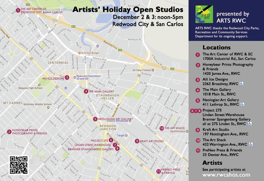 linden street warehouse artists redwood city california: 2017