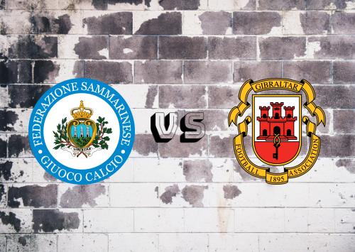 San Marino vs Gibraltar  Resumen
